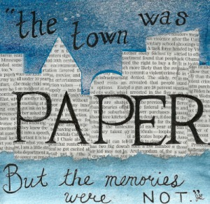 The town was paper